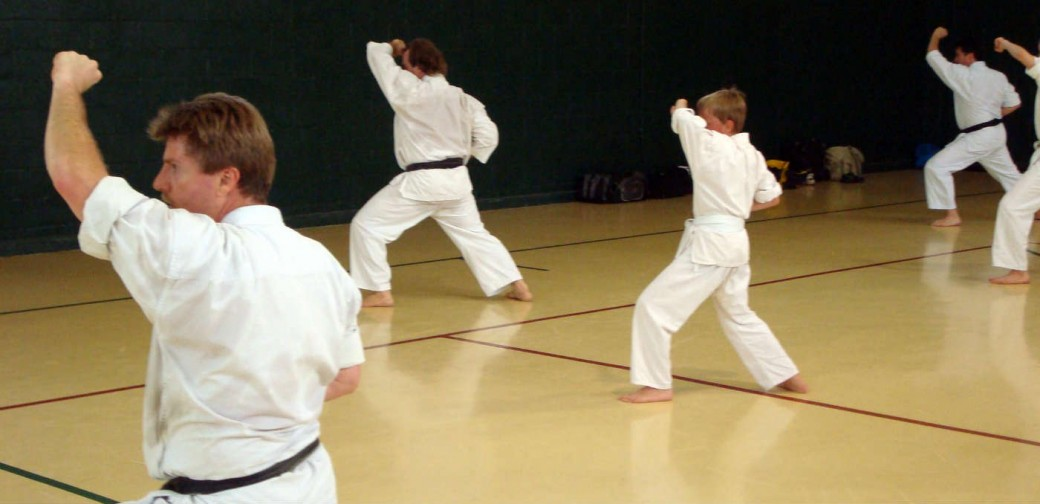 All levels practice together at Foothill Shotokan Karate-do - we hope you'll come join us!